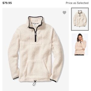 BNWT VS Pink Quarter Zip Sherpa Sweatshirt